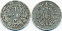 1 Mark 1880 G Kaiserreich kleiner Adler - Silber fast sehr schön  89,00 EUR  +  4,80 EUR shipping