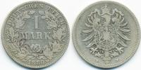 1 Mark 1880 H Kaiserreich kleiner Adler - Silber schön/sehr schön  49,00 EUR  +  4,80 EUR shipping