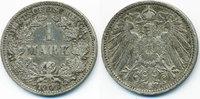 1 Mark 1903 J Kaiserreich großer Adler - Silber sehr schön  9,00 EUR  +  1,80 EUR shipping