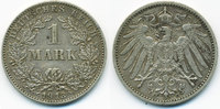 1 Mark 1913 G Kaiserreich großer Adler - Silber sehr schön+  39,00 EUR  +  4,80 EUR shipping