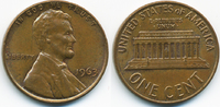 1 Cent 1963 USA Lincoln Cent Memorial vorzüglich  0,50 EUR  +  1,80 EUR shipping