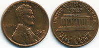 1 Cent 1967 USA Lincoln Cent Memorial fast prägefrisch  0,50 EUR  +  1,80 EUR shipping