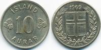 10 Aurar 1969 Island - Iceland Republik vorzüglich - minimal fleckig  0,40 EUR  +  1,80 EUR shipping