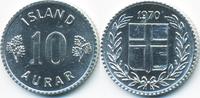 10 Aurar 1970 Island - Iceland Republik prägefrisch  0,50 EUR  +  1,80 EUR shipping