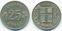 25 Aurar 1965 Island - Iceland Republik fast vorzüglich  1,00 EUR  +  1,80 EUR shipping