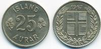 25 Aurar 1967 Island - Iceland Republik vorzüglich  1,20 EUR  +  1,80 EUR shipping