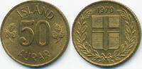 50 Aurar 1970 Island - Iceland Republik prägefrisch  0,50 EUR  +  1,80 EUR shipping