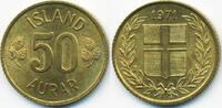 50 Aurar 1971 Island - Iceland Republik prägefrisch  0,50 EUR  +  1,80 EUR shipping