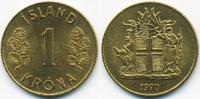 1 Krona 1970 Island - Iceland Republik prägefrisch  0,50 EUR  +  1,80 EUR shipping