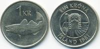 1 Krona 1981 Island - Iceland Republik vorzüglich  0,70 EUR  +  1,80 EUR shipping