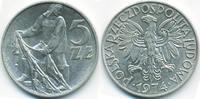 5 Zlote 1974 MW Polen - Poland Volksrepublik 1949-1990 vorzüglich  3,00 EUR  +  1,80 EUR shipping