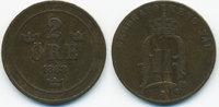 2 Oere 1888 Schweden - Sweden Oscar II. 1872-1907 knapp sehr schön  6,00 EUR  +  1,80 EUR shipping