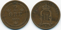 2 Oere 1899 Schweden - Sweden Oscar II. 1872-1907 sehr schön  3,00 EUR  +  1,80 EUR shipping