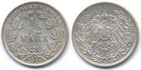 1/2 Mark 1911 E Kaiserreich Silber fast prägefrisch  32,00 EUR  +  4,80 EUR shipping