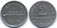 2 Pfennig 1920 Württemberg Nagold - Eisen 1920 (Funck 354.6) vorzüglich  59,00 EUR  +  4,80 EUR shipping