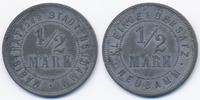 1/2 Mark ohne Jahr Brandenburg Neudamm - Zink vernickelt ohne Jahr (Fun... 28,00 EUR  +  4,80 EUR shipping