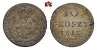 10 Groszy 1812 IB. POLEN Herzogtum. Friedrich August von Sachsen, 1807-... 295,00 EUR