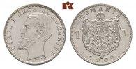 1 Leu 1900, Hamburg. RUMÄNIEN Karl I., 1866-1914. Fast Stempelglanz  475,00 EUR