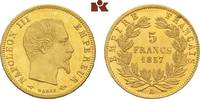 5 Francs 1857 A, Paris. FRANKREICH Napoléon III, 1852-1870. Min. Kratze... 225,00 EUR