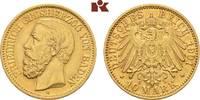 10 Mark 1901. Baden Friedrich I., 1852-1907. Vorzüglich  395,00 EUR