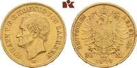 20 Mark 1873. Sachsen Johann, 1854-1873. Fast vorzüglich  495,00 EUR