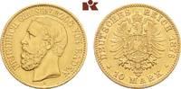 10 Mark 1876. Baden Friedrich I., 1852-1907. Sehr schön-vorzüglich  275,00 EUR