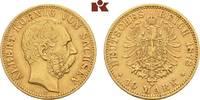 10 Mark 1878. Sachsen Albert, 1873-1902. Fast vorzüglich  395,00 EUR