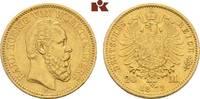 20 Mark 1872. Württemberg Karl, 1864-1891. Sehr schön-vorzüglich  375,00 EUR
