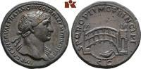 Æ-Sesterz, 107/110, Rom; MÜNZEN DER RÖMISCHEN KAISERZEIT Traianus, 98-1... 3885,00 EUR free shipping