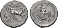 AR-Tetradrachme, 475/466 v. Chr.; SICILIA LEONTINOI. Feine Patina, etwa... 2485,00 EUR  +  9,90 EUR shipping