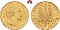 20 Mark 1872. Bayern Ludwig II., 1864-1886. Sehr schön-vorzüglich  345,00 EUR
