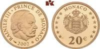 20 Euro 2002. MONACO Rainier III., 1949-2005. Polierte Platte.  545,00 EUR