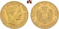 20 Drachmen 1876 A, Paris. GRIECHENLAND Georg I., 1863-1913. Sehr schön... 695,00 EUR