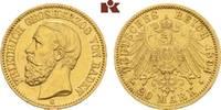 20 Mark 1894. Baden Friedrich I., 1852-1907. Fast vorzüglich  395,00 EUR
