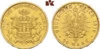 20 Mark 1879. Hamburg Freie und Hansestadt. Sehr schön +  545,00 EUR