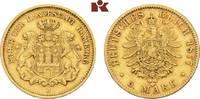 5 Mark 1877. Hamburg Freie und Hansestadt. Sehr schön-vorzüglich  645,00 EUR