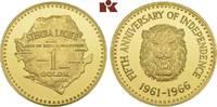 1 Golde 1966. SIERRA LEONE Republik. Polierte Platte  2975,00 EUR