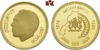 500 Dirhams 1979. MAROKKO Hassan II., 1962-1999. Polierte Platte  575,00 EUR
