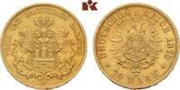 20 Mark 1878. Hamburg Freie und Hansestadt. Vorzüglich  395,00 EUR  +  9,90 EUR shipping