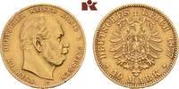 10 Mark 1877 C. Preussen Wilhelm I., 1861-1888. Fast vorzüglich  225,00 EUR  +  9,90 EUR shipping
