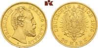 20 Mark 1875. Anhalt Friedrich I., 1871-1904. Vorzüglich-Stempelglanz  6645,00 EUR free shipping