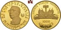 1.000 Gourdes 1967. HAITI Republik. Pracht...