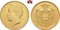 10.000 Reis 1884, Lissabon. PORTUGAL Ludwig I., 1861-1889. Fast vorzügl... 945,00 EUR  +  9,90 EUR shipping