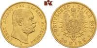 20 Mark 1887. Sachsen-Altenburg Ernst, 1853-1908. Fast vorzüglich  5375,00 EUR free shipping