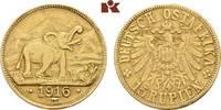 15 Rupien 1916 T, Tabora. Deutsch-Ostafrika  Kl. Randfehler, sehr schön  3795,00 EUR free shipping