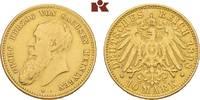 10 Mark 1898. Sachsen-Meiningen Georg II., 1866-1914. Sehr schön  3745,00 EUR free shipping