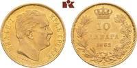 10 Dinara 1882 V, Wien. SERBIEN Milan IV. Obrenowitsch, 1868-1882-1889.... 235,00 EUR  +  9,90 EUR shipping