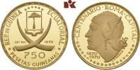 750 Pesetas 1970. ÄQUATORIAL GUINEA Republik seit 1968. Polierte Platte  425,00 EUR  +  9,90 EUR shipping