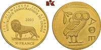 50 Francs 2003. KONGO Republik Kongo (Zaire), 1960-1971. Prachtexemplar... 345,00 EUR  +  9,90 EUR shipping