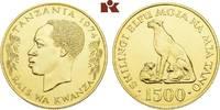 1.500 Shilingi 1974. TANSANIA Republik. Stempelglanz  1425,00 EUR  +  9,90 EUR shipping